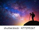 Milky Way  Star  Silhouette...