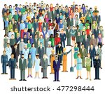 large crowd  3d illustration | Shutterstock . vector #477298444