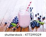 blueberry yogurt | Shutterstock . vector #477299329