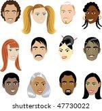 people faces 1. vector... | Shutterstock .eps vector #47730022