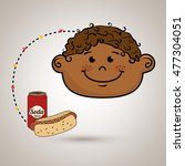 boy fast food | Shutterstock .eps vector #477304051