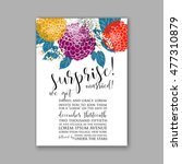 wedding invitation or card with ... | Shutterstock .eps vector #477310879