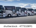 tourist buses on parking   | Shutterstock . vector #477310891