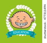 boy student graduation icon | Shutterstock .eps vector #477311494