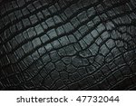 Black crocodile leather  texture