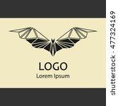 logo bat icon. bat symbol. bats ...   Shutterstock .eps vector #477324169