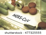 mers cov. treatment and... | Shutterstock . vector #477325555