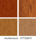 set of four wood textures | Shutterstock .eps vector #47732875