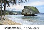 Barbados Hotel Strip Along The...