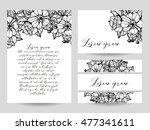 vintage delicate invitation... | Shutterstock . vector #477341611