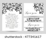 vintage delicate invitation... | Shutterstock . vector #477341617