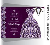 wedding invitation or card with ...   Shutterstock .eps vector #477351361