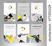 set of creative cards with... | Shutterstock .eps vector #477352429