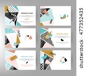 set of creative cards with... | Shutterstock .eps vector #477352435