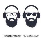 man with a beard wearing... | Shutterstock .eps vector #477358669