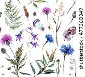 hand drawn watercolor summer...   Shutterstock . vector #477360349
