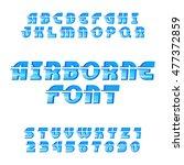 airborne alphabet vector font....   Shutterstock .eps vector #477372859