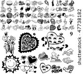chocolate set of black sketch.... | Shutterstock .eps vector #47738182