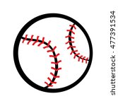 baseball graphic | Shutterstock . vector #477391534