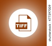 tiff icon. concept illustration ...
