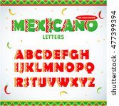 mexican letters for for... | Shutterstock .eps vector #477399394