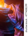 antelope canyon in the navajo... | Shutterstock . vector #477408199