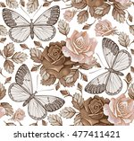 butterflies  moths  insects.... | Shutterstock .eps vector #477411421