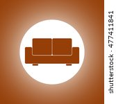 comfortable sofa icons. flat... | Shutterstock . vector #477411841