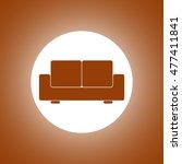comfortable sofa icons. flat... | Shutterstock . vector #477411841