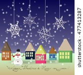 new year and christmas greeting | Shutterstock .eps vector #477413287