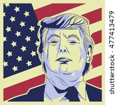 usa presidential election... | Shutterstock .eps vector #477413479