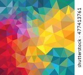 abstract colorful triangle... | Shutterstock .eps vector #477413761