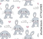 Seamless Little Bunny Pattern...