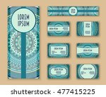 business cards  invitations and ... | Shutterstock .eps vector #477415225