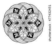 hand drawing mandala  round...   Shutterstock .eps vector #477432451