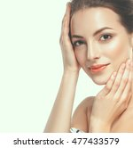 beauty woman face portrait.... | Shutterstock . vector #477433579