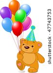 very cute teddy bear with... | Shutterstock .eps vector #47743753
