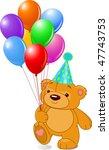 very cute teddy bear with... | Shutterstock .eps vector #47743753