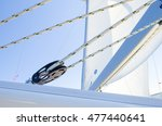 Pulley And Ropes Attached To A...