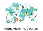 social media network concept....   Shutterstock .eps vector #477451381