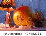Pumpkin  Glass Cups  Hydrangea...