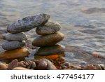 stone pyramid  | Shutterstock . vector #477454177
