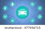 smart car interface.... | Shutterstock .eps vector #477456715