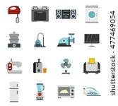 household appliance icons set... | Shutterstock .eps vector #477469054