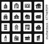 house icons set in simple style.... | Shutterstock .eps vector #477469099
