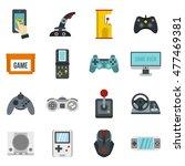 Video Game Icons Set. Flat...