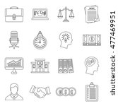 banking icons set in outline...   Shutterstock .eps vector #477469951