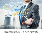 ideas for success in business | Shutterstock . vector #477472495