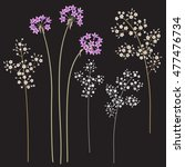 small  gypsophila flowers on... | Shutterstock .eps vector #477476734