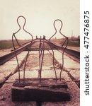 sculpture at end of railway... | Shutterstock . vector #477476875